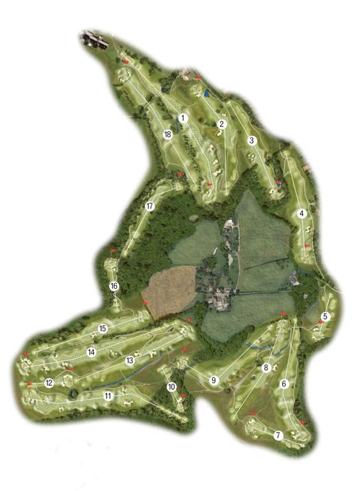 The Dale Hill - Ian Woosnam Course Map